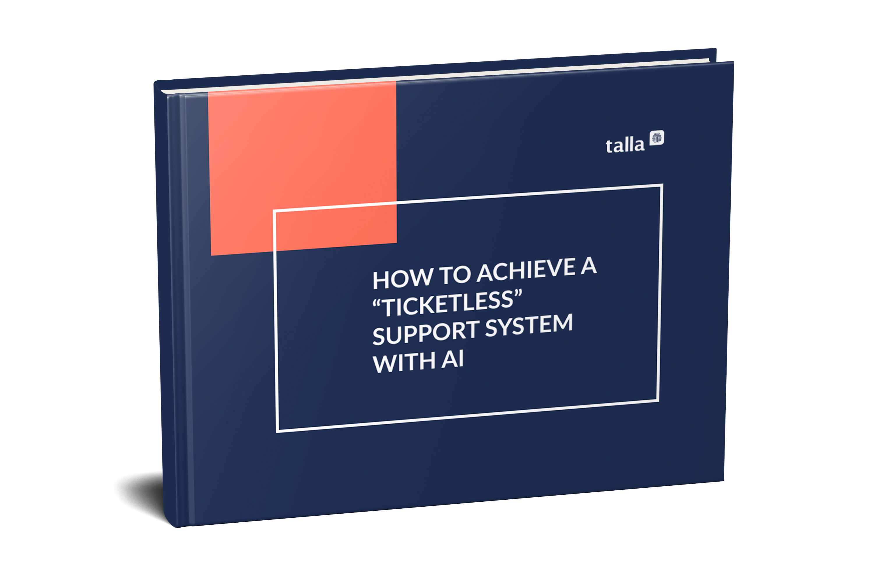 how to achieve a ticketless support system with AI ebook cover